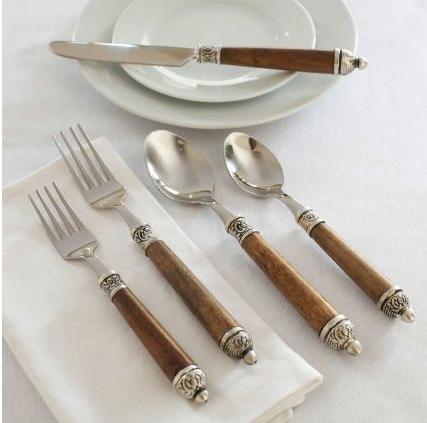 Sur la table wood handle flatware