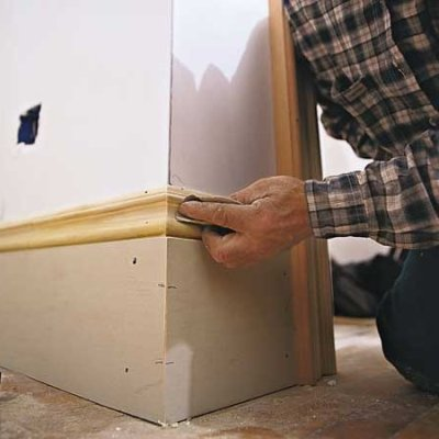 Baseboard molding nomadic decorator Baseboard height