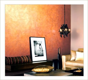 Metallic walls nomadic decorator - Metallic paint wall designs ...