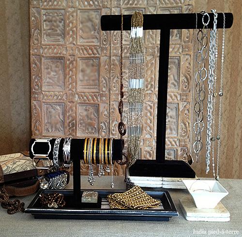 DIY: Bangle Bar And Necklace Bar Jewelry Organizers